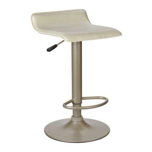 Single Airlift Swivel Stool with Beige PVC Seat