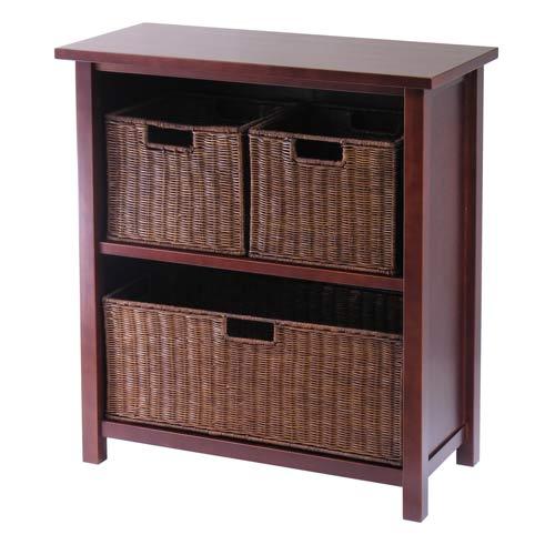 3-Tier Storage Shelf, Medium, with Baskets