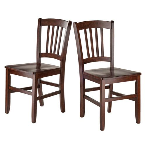 Madison 2-Piece Set Slat Back Chairs