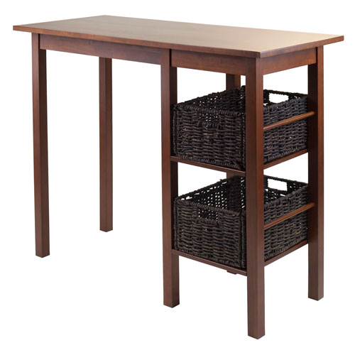 Egan 3-Piece Breakfast Table with 2 Baskets Set