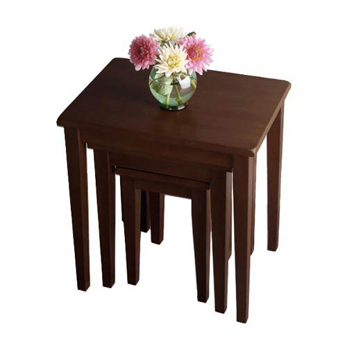 Walnut Nesting Tables, Set of Three