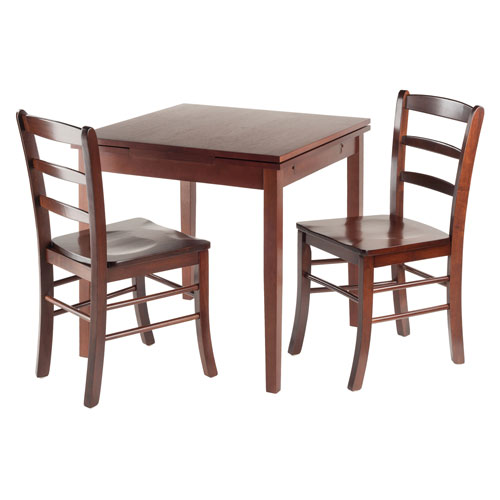 Pullman 3-Piece Set Extension Table 2 Ladder Back Chairs