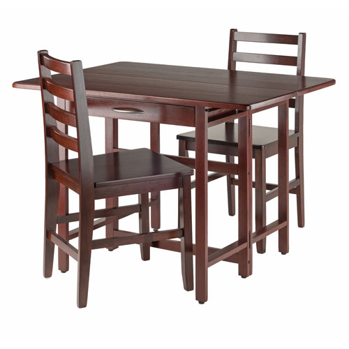 Taylor 3-Piece Set Drop Leaf Table with Ladder Back Chair