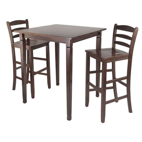 Winsome Wood Kingsgate Pub Dining Table w/ Ladder Back High Chair