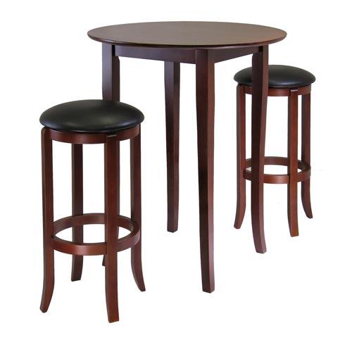 Winsome Wood Fiona Round Three Piece Pub Table Set