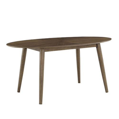 Luka Walnut Oval Dining Table