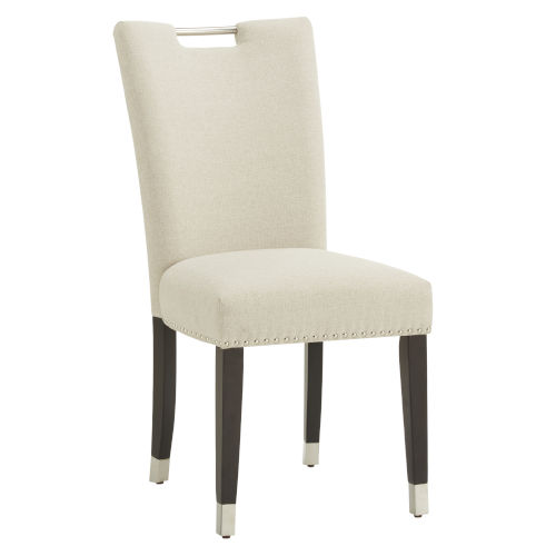 Althea Beige Heathered Weave Parson Dining Chair, Set of Two
