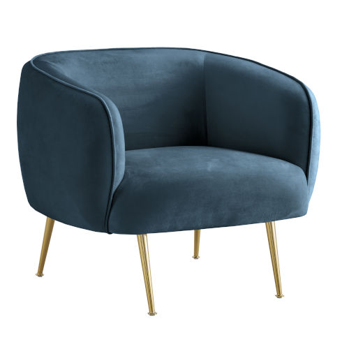 Remus Blue Upholstered Arm Chair