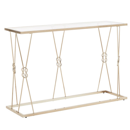 May Champagne Gold Knot Frame Sofa Table