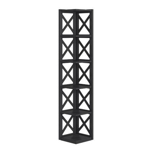 Tanya Black X-Frame Five-Shelve Bookcase