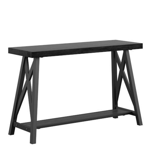 Gio Black X-Base Sofa Entryway Table