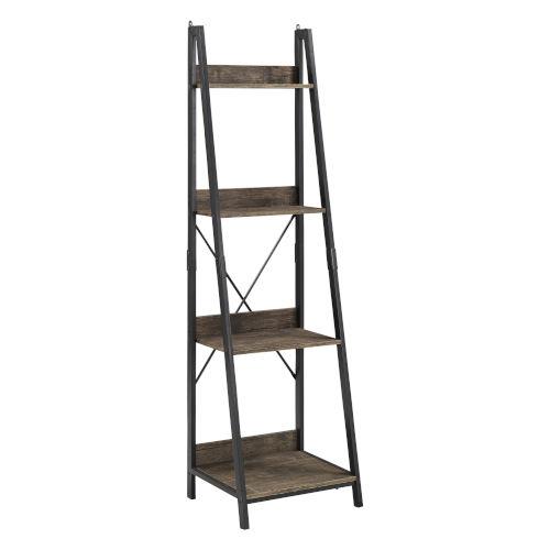 Norman Black Ladder Bookcase