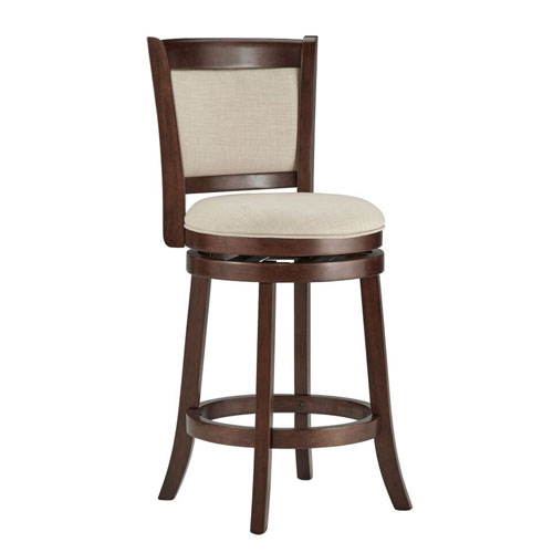 Romeo Beige Swivel Counter Stool