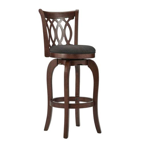 HomeHills Juliet Dark Grey Swivel Bar Stool