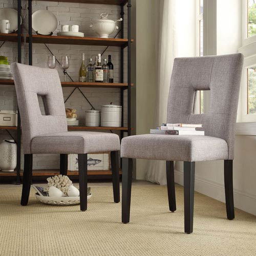 HomeHills Jacot Keyhole Side Chair, Set of 2