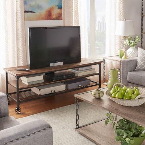 HomeHills Cooper Rustic Industrial TV Stand