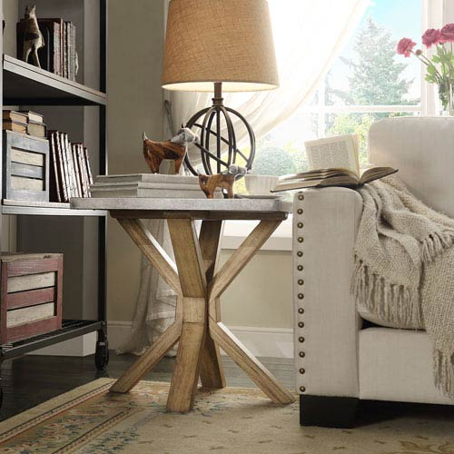 Beatrice Zinc-Top End Table