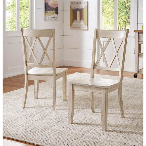 HomeHills Adalee X Back Side Chair, Set of 2