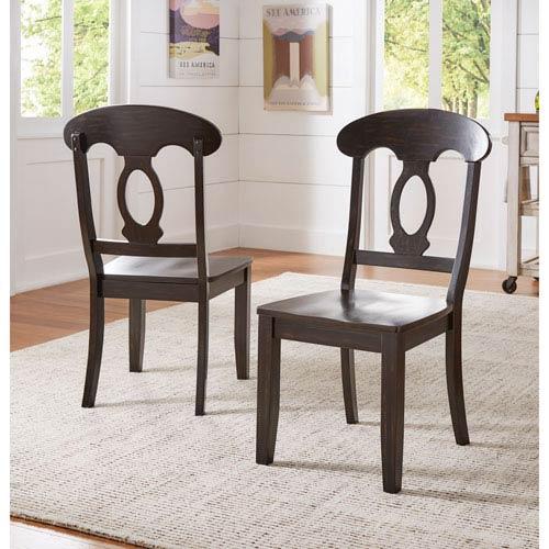 HomeHills Adalee Napoleon Back Side Chair, Set of 2