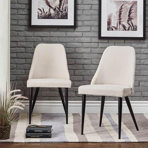 HomeHills Akins Mid Century Side Chair, Set of 2