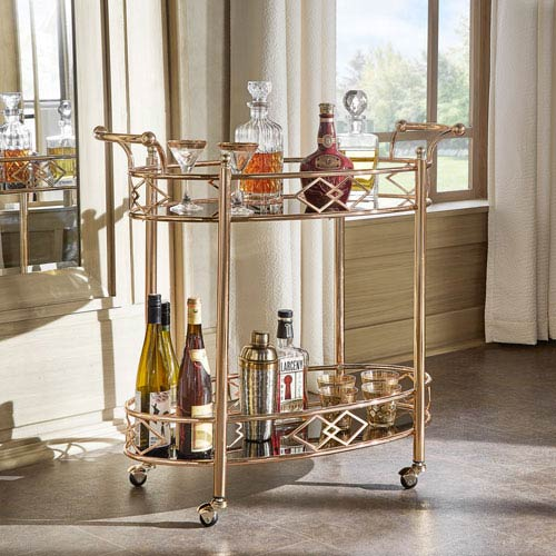 HomeHills Alyson Serving Bar Cart