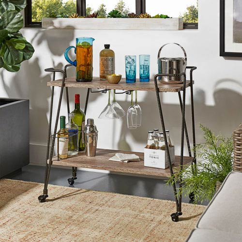 Baily Industrial Bar Cart