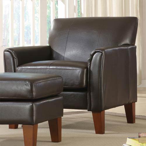 HomeHills Walker Dark Brown Chair
