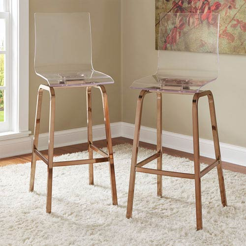 Seneca Acrylic Bar Chair, Set of 2