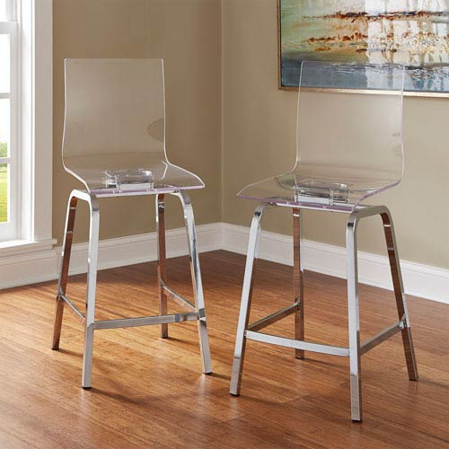 Seneca Acrylic Counter Chair, Set of 2