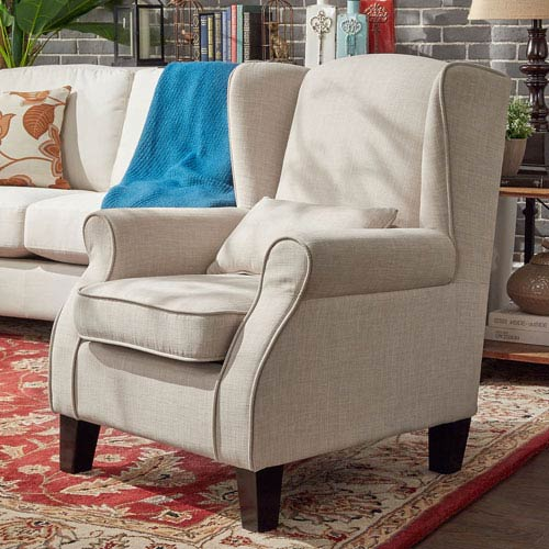 Foster Bisque Wingback Arm Chair