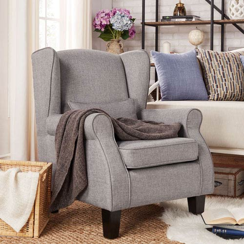Foster Smoke Wingback Arm Chair