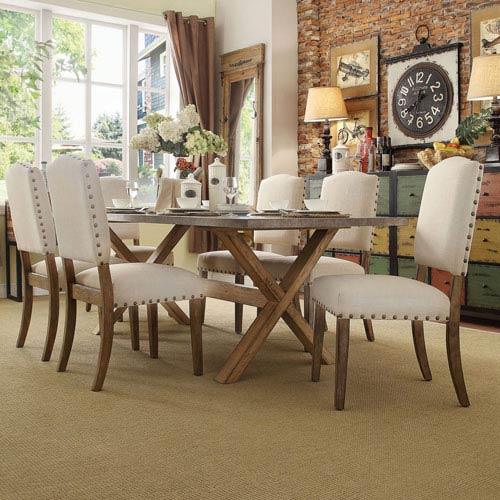 HomeHills Needham Bisque Shield Back Dining Chair, Set of 2