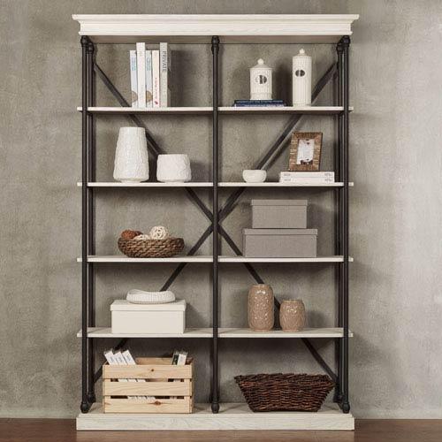 Homehills Lubeck Vintage White Bookshelf