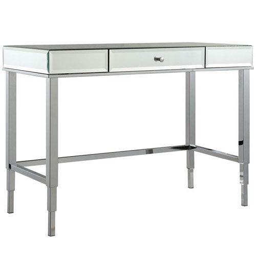 Prezia Chrome Mirrored Writing Desk