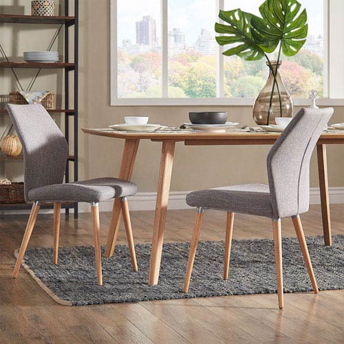 HomeHills Byxbee Natural Contoured Side Chair, Set of 2