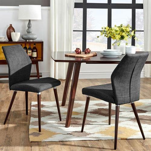 HomeHills Byxbee Espresso Contoured Side Chair, Set of 2
