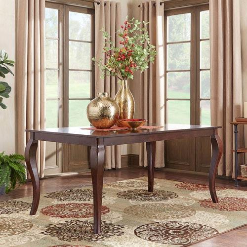 Keilman Dark Cherry 66 inch Extendable Cabriole Leg Dining Table
