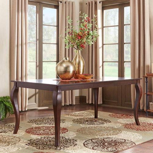 Keilman Dark Cherry 72 inch Extendable Cabriole Leg Dining Table