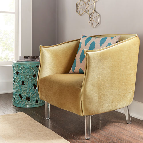Lila Gold Velvet Chair