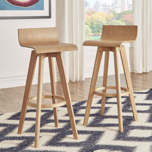 Mick Natural Swivel Bar Stool