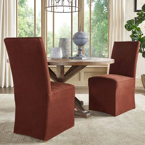 HomeHills Cunningham Parsons Slipcovered Side Chair, Set of 2