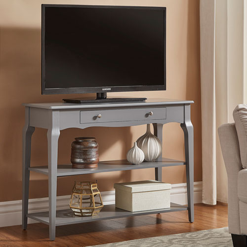 HomeHills Eugenia Grey Console TV Stand
