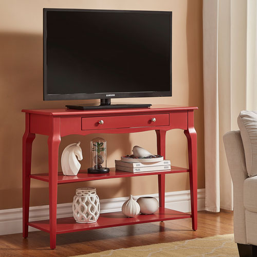 HomeHills Eugenia Red Console TV Stand