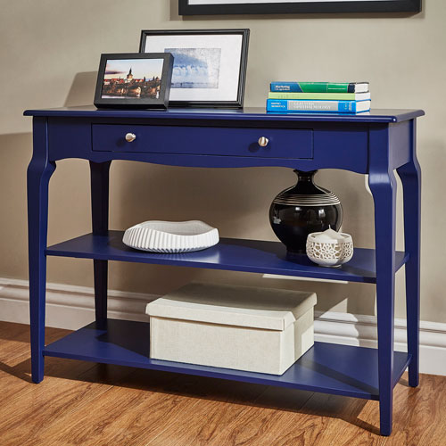 Eugenia Blue Console TV Stand