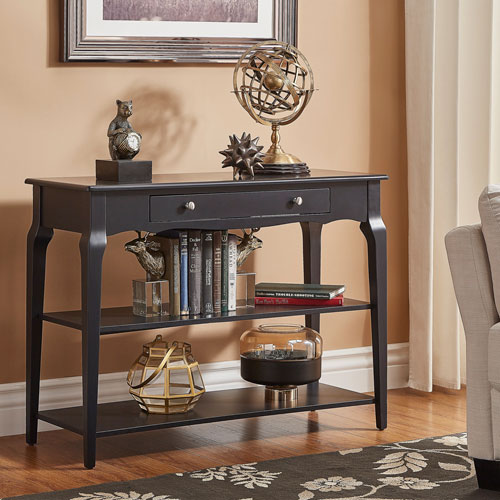 HomeHills Eugenia Black Console TV Stand
