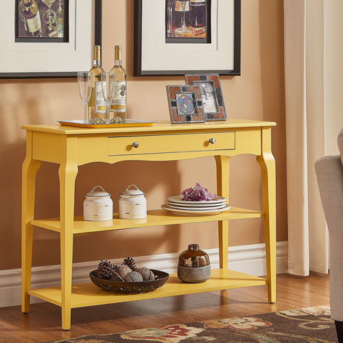 Eugenia Yellow Console TV Stand