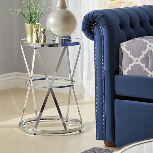 Cally Mirrored Accent Table