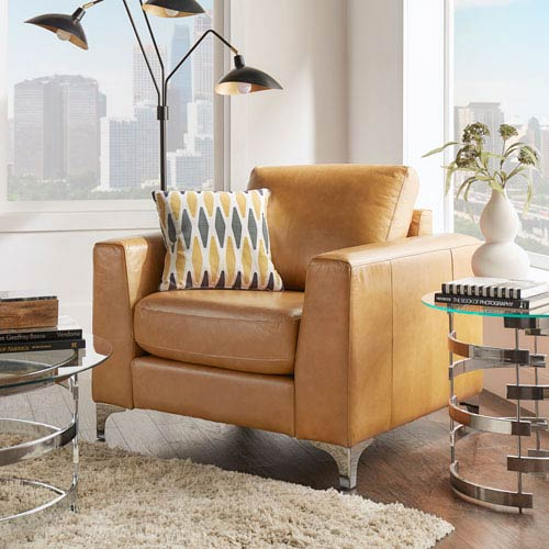 Galindo Leather Arm Chair