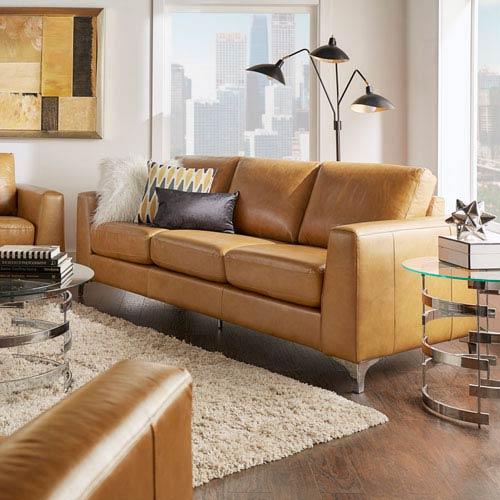 Galindo Leather Sofa