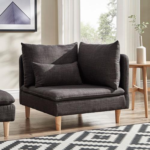 Eden Modular Dark Grey Corner Chair